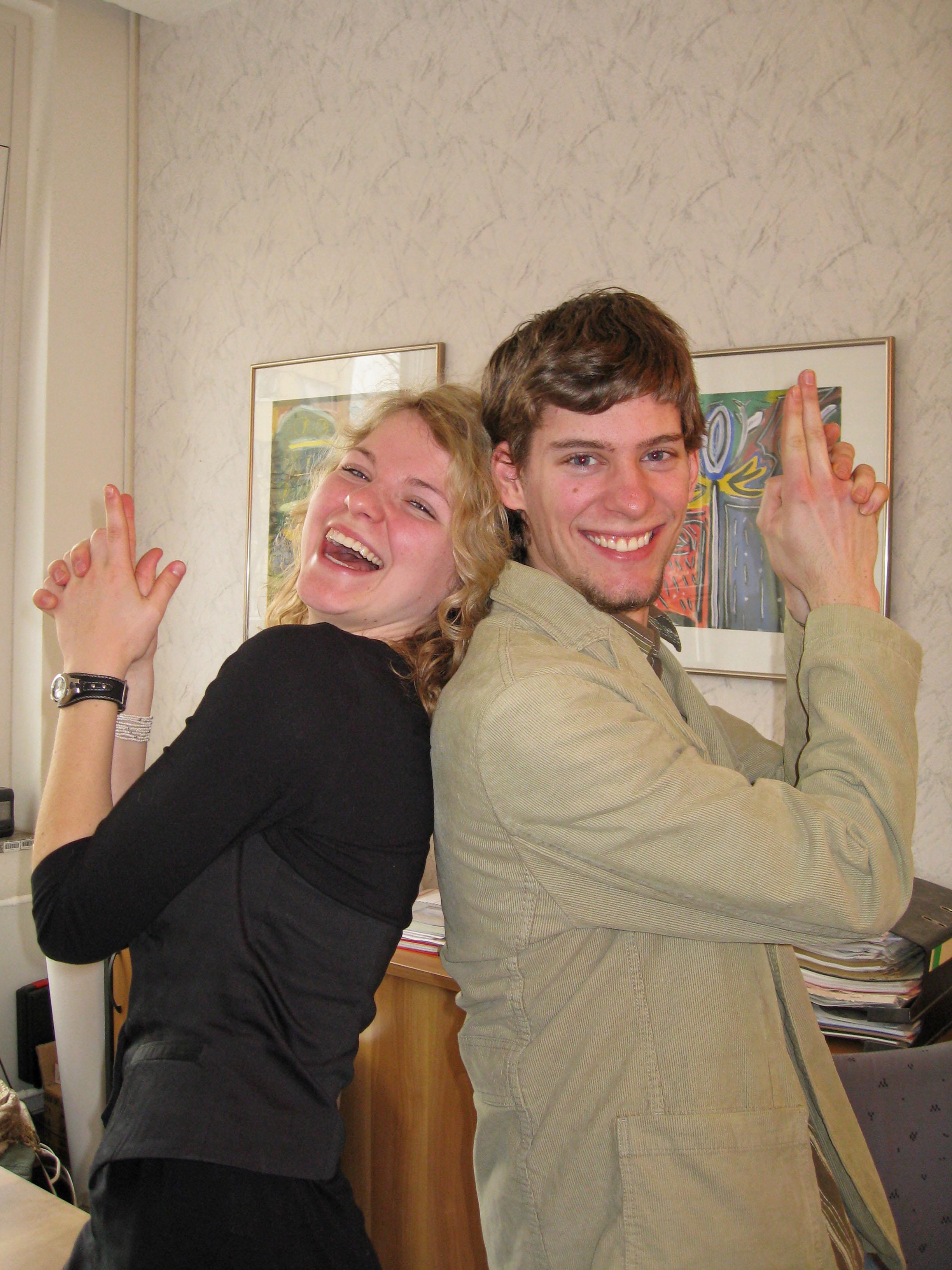 Nach dem Interview - Jule und Tony