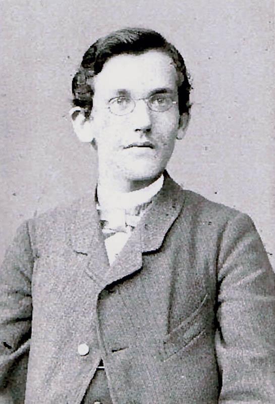 Emil Krebs als Abiturient im März 1887