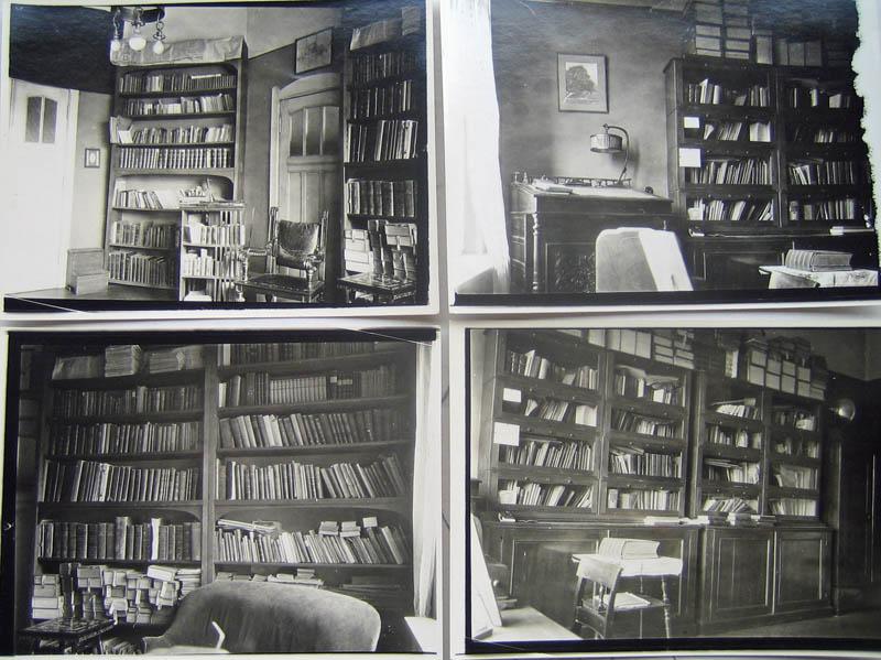 Emil Krebs' Arbeitszimmer in Berlin mit seiner Bibliothek von weit über 5000 Büchern und Schriften in 111 Sprachen