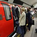 Rush hour in Londons Tube