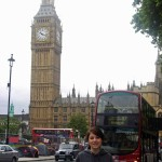 Sophie vor dem Big Ben