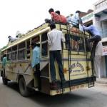 Busfahren in Indien