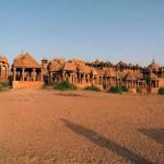 Köngsgräber aus Sandstein unweit Jaisalmer