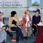 Die Gesellschaft bewundert die Bilder des Malers Caspar David Friedrich