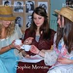 Die Damen Günderrode, Mereau und Herz beim Tee