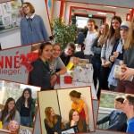 """Redaktion der """"Lenné-Überflieger"""" im Januar 2013 am Tag der offenen Tür"""
