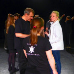 Offener Workshop: v.li.n.re. Anika, Hannes Janke, Juliana Götze und Diana