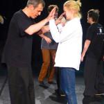 Hannes Janke und Diana bei der Improvisation im Workshop