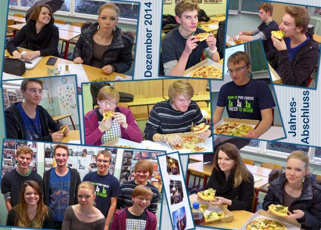 Am 10. Dezember fand unser alljährliches Jahresabschluss-Pizza-Arbeitsessen statt.