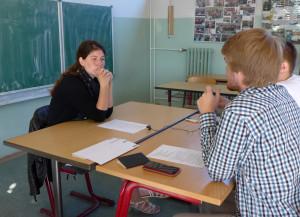 Frau Hagenstein im Interview mit Amandus und Stefan
