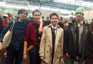 Foto: v.li.n.re.: Richard Schenk (11b), Kaya H. (12d), Catriona R. (12d), Anton Veith (11b)