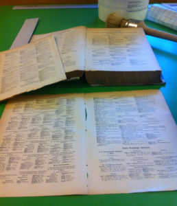 reparaturbeduerftige alte Bücher